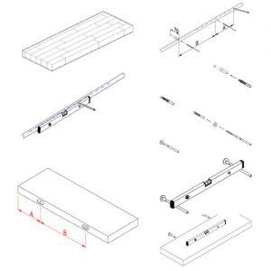 Instrukcja montażu półki z litego drewna